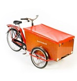 Bakfiets.nl Dekzeil Cargo Trike rood of zwart