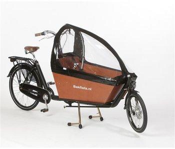 Bakfiets.nl Tent Gargobike long zonder ritsen, kleur Zwart
