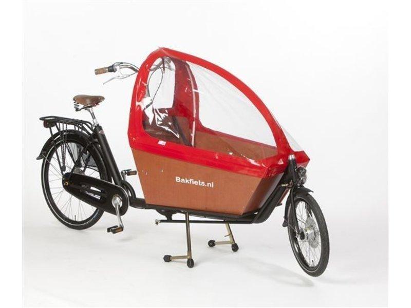 Bakfiets.nl Tent Gargobike long, zonder ritsen kleur rood