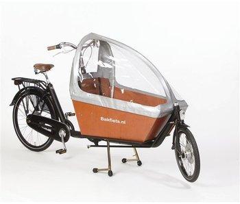 Bakfiets.nl Tent Gargobike long, zonder ritsen kleur zilver