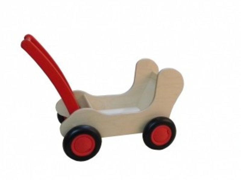 Houten Poppenwagen/Combiwagen rood
