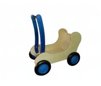 Houten Poppenwagen/Combiwagen blauw