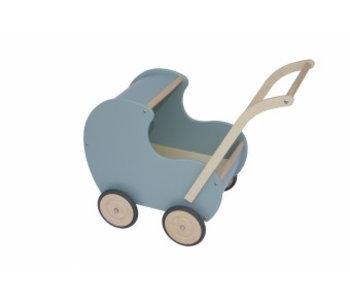 Poppenwagen klein noest groen