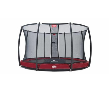 BERG InGround trampoline Elite 380 Rood + Safety Net T-series