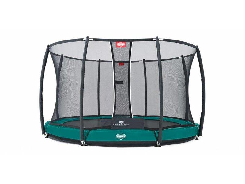 BERG InGround trampoline Elite 430 Groen + Safety Net T-series
