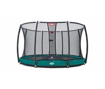 BERG InGround trampoline Elite Tattoo 430 Groen + Safety Net T-series