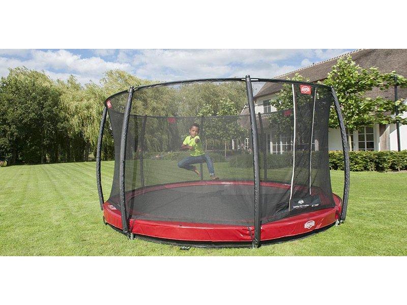 BERG InGround trampoline Elite 380 Rood + Safety Net T-series