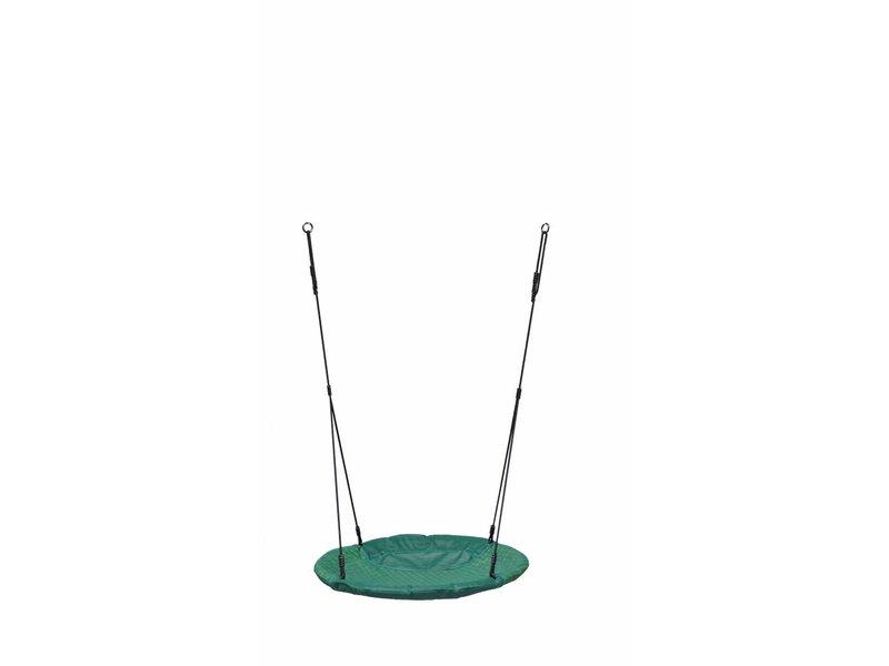 Nestschommel Winkoh gevlochten zwart touw - groen/groen