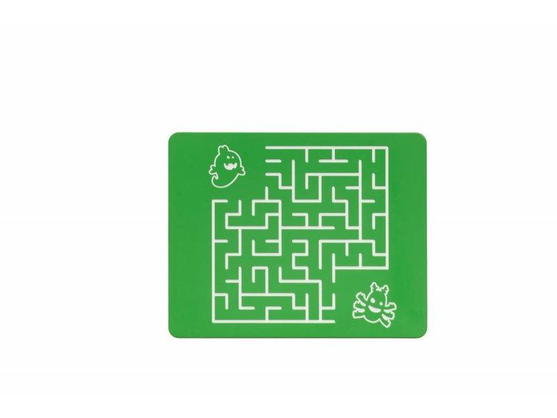 Speelpaneel doolhof vierkant groen
