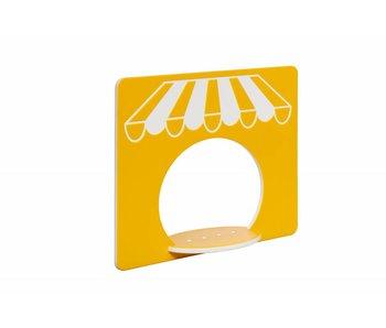 HDPE speelpaneel 'winkel' - geel