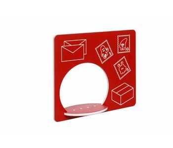 HDPE speelpaneel 'postkantoor' rood