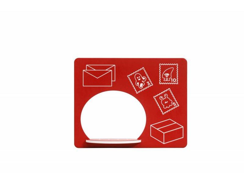 Speelpaneel 'postkantoor' - rood