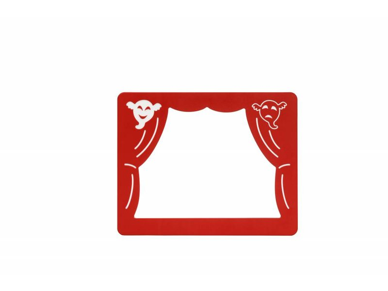 Speelpaneel 'theater' - rood