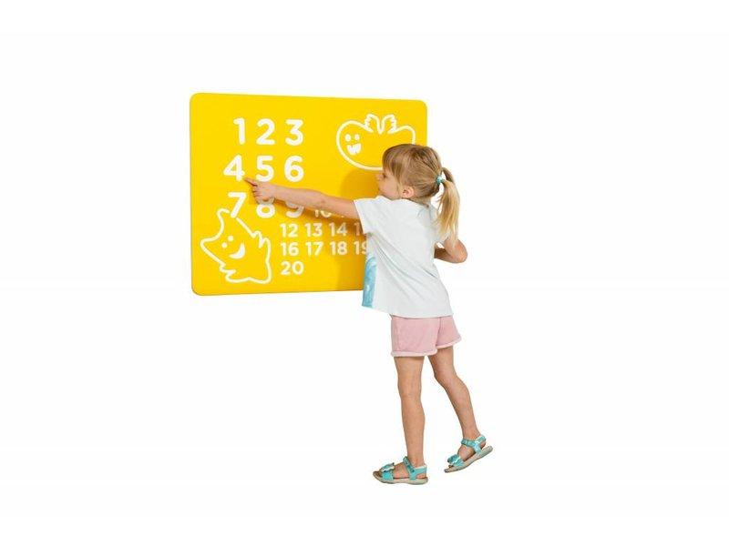 Speelpaneel 'nummers' - geel