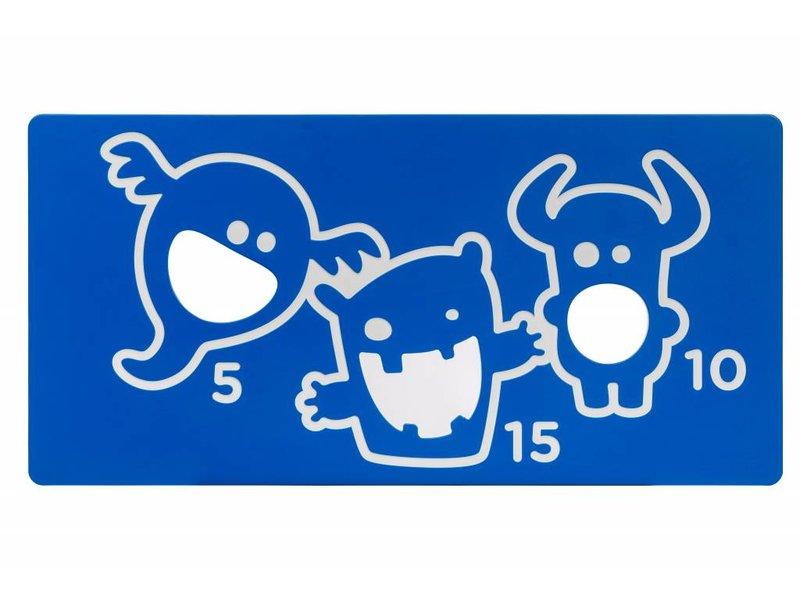 Speelpaneel 'scorebord' - blauw