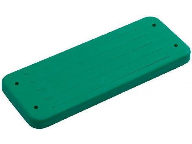 Rubberen schommelzitje - 'trad.' - rvs kettingset - 3.0 m (eff: 2.5 m) - groen