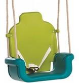 Babyzitje groeimodel limoen groen/turquoise/oranje
