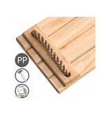 Hardhouten schommelzitje - PP - vernist