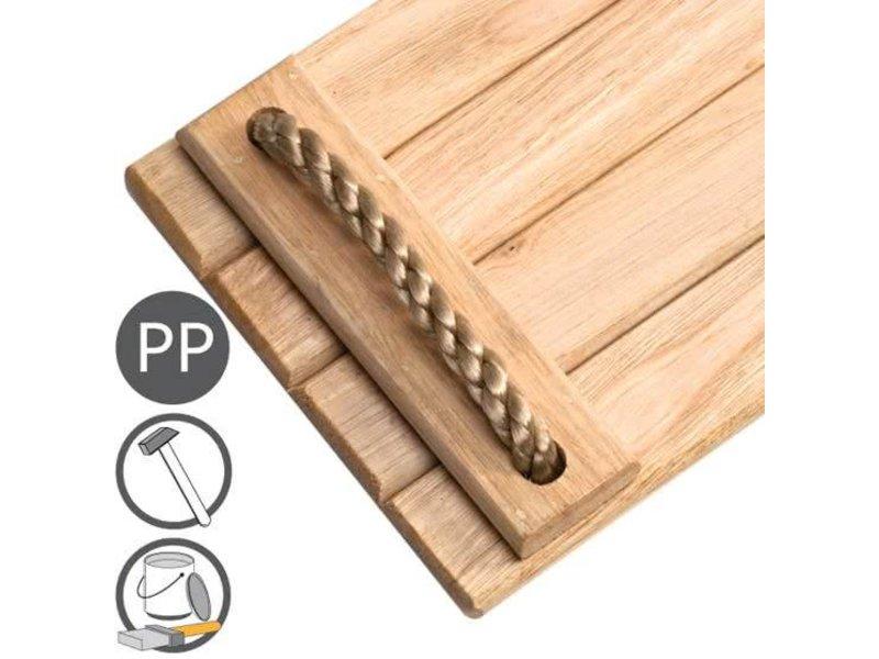 Hardhouten schommelzitje - PP