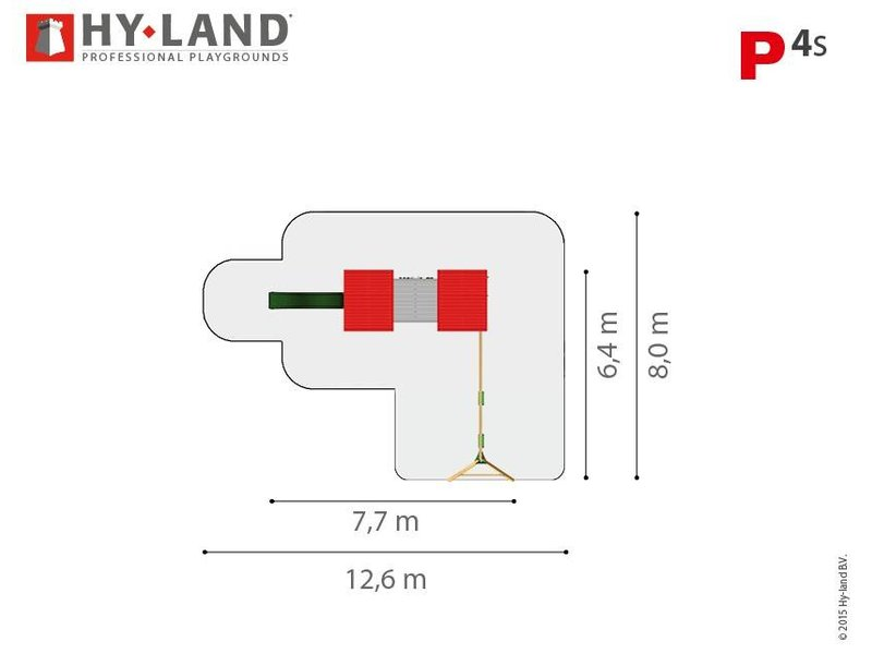 Hy-land speeltoestel P4S met schommel Douglas IMPK