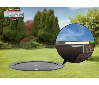 BERG FlatGround Champion trampoline 380 grijs (gratis BERG Afdekhoes Extra*)