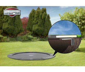 BERG FlatGround Trampoline Champion 430 grijs (gratis BERG Afdekhoes Extra*)