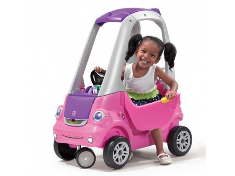 Step2 Easy Turn Coupe loopauto (roze)