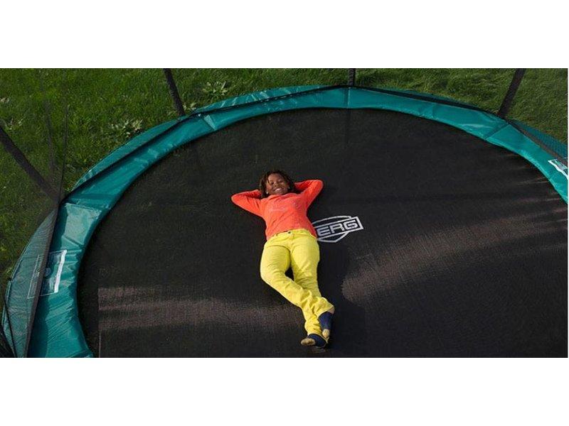 BERG InGround Trampoline Favorit 380 grijs + Safety Net Comfort