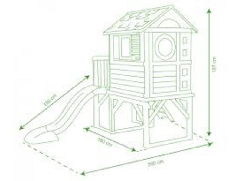 Smoby Speelhuisje met veranda  (verhoogd)