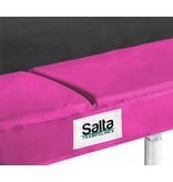 Salta Rechthoekige trampoline 214x153 met veiligheidsnet roze + gratis trapje