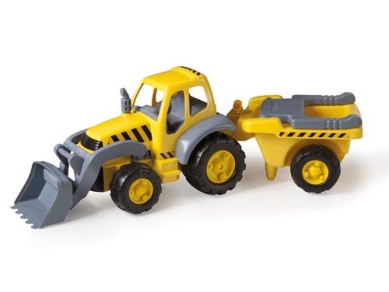 Reuze Tractor met Aanhanger