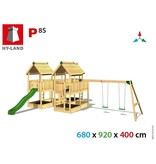 Hy-land speeltoestel P8S met schommel - Groene glijbaan