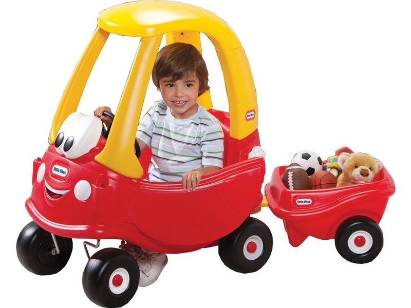Little Tikes cozy coupe trailer rood