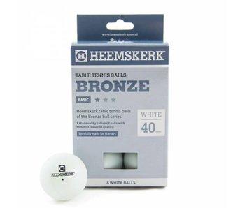 Heemskerk 1 ster wit/oranje - 6 stuks