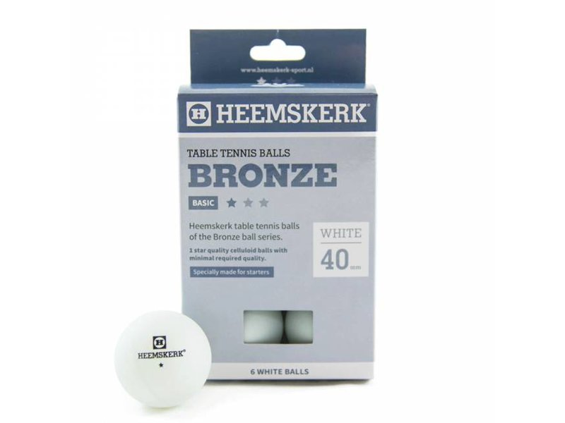Heemskerk 1 ster wit/oranje 6 stuks