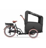 Troy  Elektrische Bakfiets 2021 Black/Brown