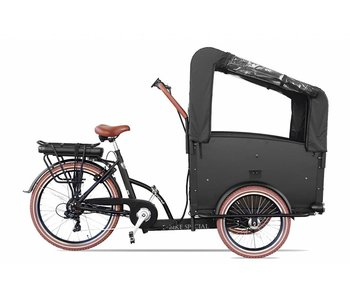 Troy  Elektrische Bakfiets 2020 Black/Brown