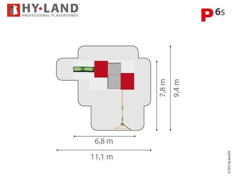 Hy-land speeltoestel P6 - Groene glijbaan