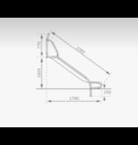 RVS Glijbaan voor Platformhoogte 90 - 100 cm Extra Breed met beugel