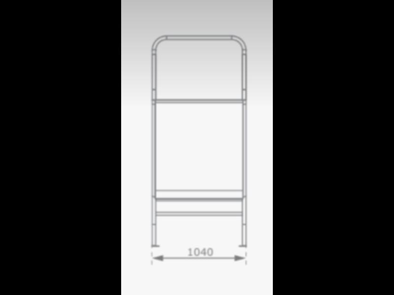 KBT RVS Glijbaan voor Platformhoogte 105/125 cm Extra Breed met beugel