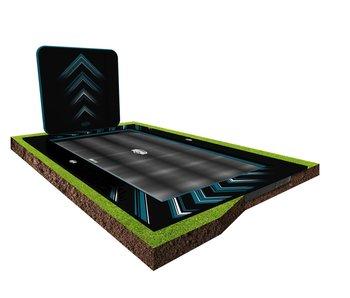 BERG Ultim Elite FlatGround 500 Black + AeroWall 2x2 Black