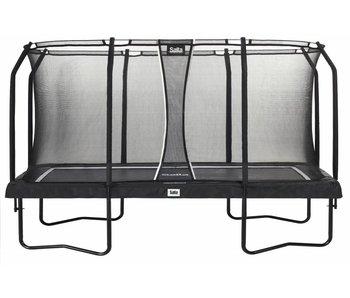 Salta rechthoekige trampoline  premium black edition 244X396