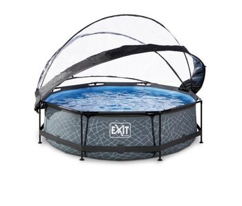 Exit  tone zwembad ø300x76cm met overkapping en filterpomp