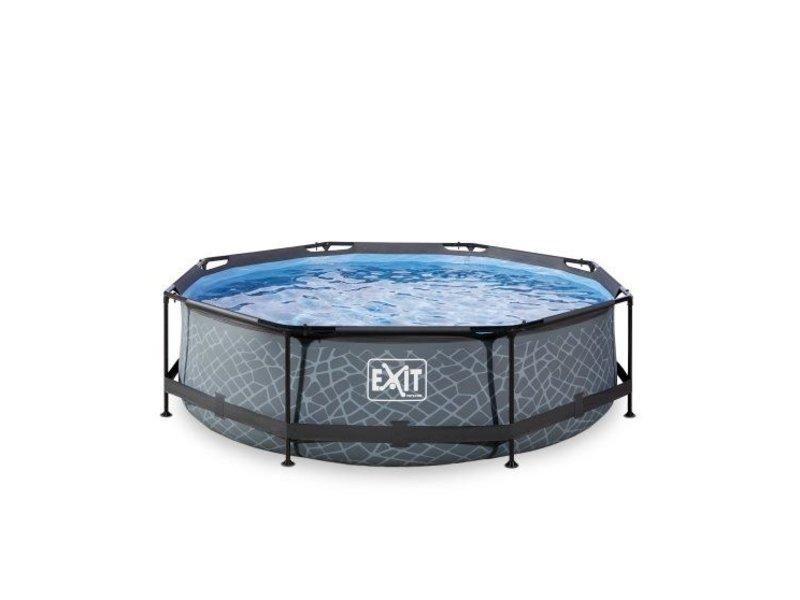 Exit  Stone zwembad ø360x76cm met filterpomp