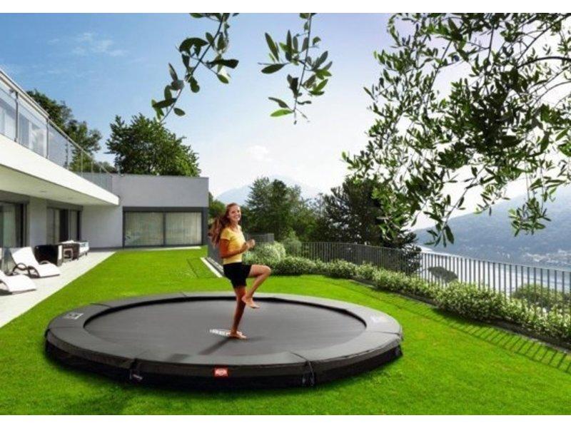 BERG Champion Inground trampoline Grey Ø430 Sport Twinspring veren AANBIEDING