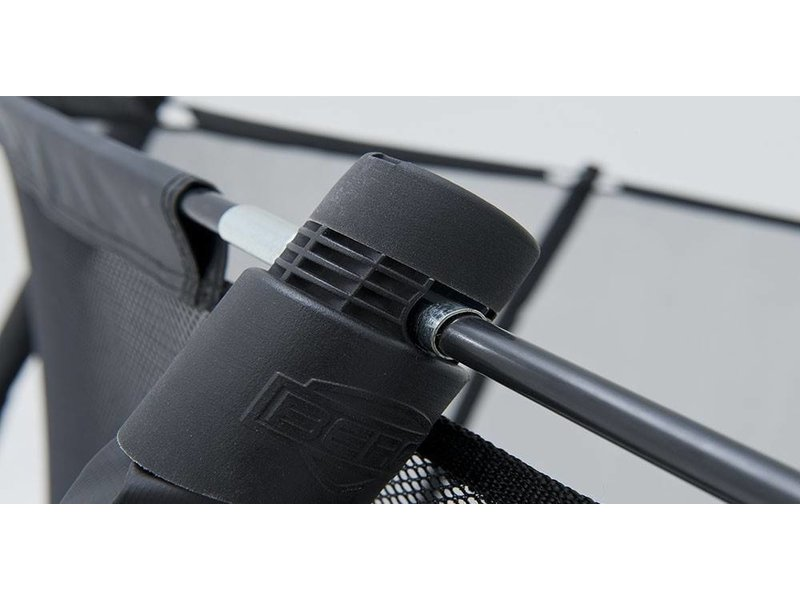 BERG Elite Tattoo Trampoline Rood Ø430 met Veiligheidsnet met gratis ladder