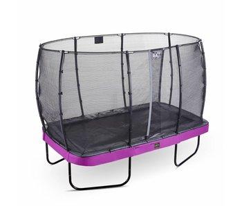 Exit  Elegant Premium trampoline rectangular 214x366cm with safetynet Economy - purple