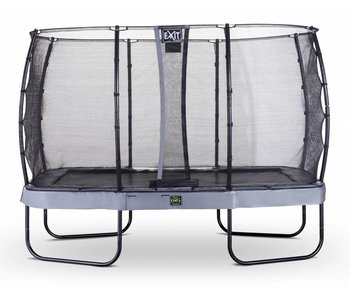 Exit  Elegant Premium trampoline rectangular 244x427cm with safetynet Economy - grey