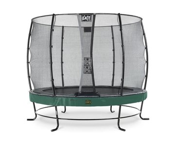 Exit  Elegant Premium trampoline ø305cm with safetynet Economy - green