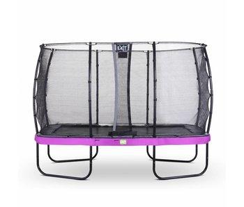 Exit  Elegant trampoline rectangular 244x427cm with safetynet Economy - purple